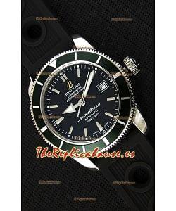 Breitling SuperOcean Heritage II B20 42MM Reloj Réplica Suizo Dial Negro Bisel Verde - Edición Espejo 1:1