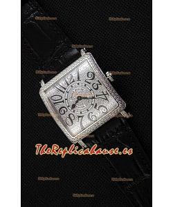 Franck Muller Master of Sqaure Ladies Quartz Reloj Réplica en Caja de Acero
