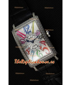 Franck Muller Long Island Color Dreams Ladies Reloj Réplica Suizo - Correa color Negro