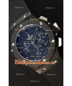Hublot Big Bang Reloj Réplica Suizo todo el Revestimiento PVD color Negro Réplica a Espejo 1:1