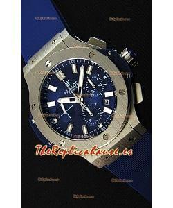 Hublot Big Bang Reloj Réplica Suizo de Acero en color Azul Réplica a Espejo 1:1