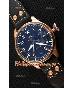 IWC Big Pilot's IW501005 Reloj Réplica Suizo Heritage - Función indicadora de la Reserva de Energía totalmente Funcional Réplica a Espejo 1:1