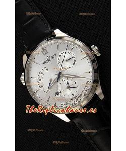 Jaeger LeCoultre Master Geographic Indicador de Reserva de Energía Caja de Acero Dial de Acero Reloj Réplica Suizo