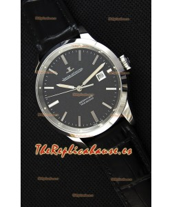 Jaeger LeCoultre Geophysic True Second Reloj Caja de Acero Dial Negro