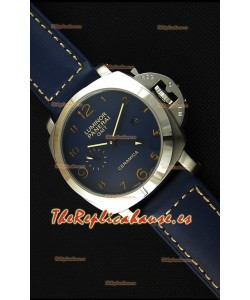 Panerai Luminor Marina GMT Reloj Réplica Japonés de Cerámica y Acero Inoxidable