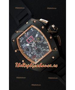 Richard Mille RM011-FM Felipe Massa Reloj con Caja de Cerámica color Negro, correa en color Negro