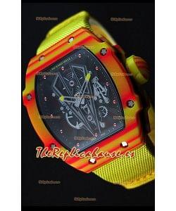 Richard Mille 27-03 Tourbillon Rafael Nadal Reloj Réplica Suizo de Carbón Forjado
