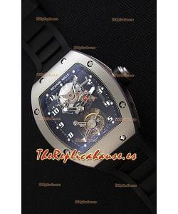 Richard Mille RM001 Evolution Tourbillon Reloj Réplica Suizo con Caja Mate satinado con cuentas