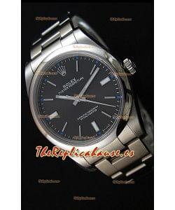 Rolex Oyster Perpetual Cal.3132 Movimiento Suizo Dial Negro Correa tipo Ostra - Último Reloj de Acero 904L
