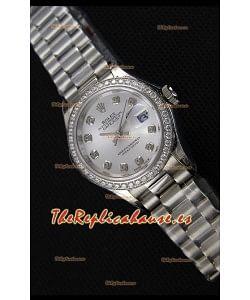 Rolex Datejust Ladies Diamonds Markers Reloj Suizo Réplica a Espejo 1:1 Movimiento CAL.2236