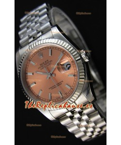Rolex Datejust 36MM Cal.3135 Movement Reloj Réplica Suizo Dial Champange Jubilee Strap - Ultimate 904L Steel Watch