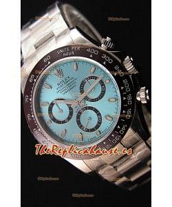 Rolex Cosmograph Daytona 116506 Dial ICE BLUE Movimiento Original Cal.4130 Último Reloj de Acero 904L