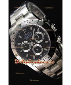 Rolex Cosmograph Daytona 116520 Movimiento Original Cal.4130 Dial Negro - Último Reloj de Acero 904L