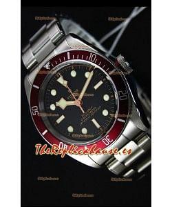 Tudor Heritage Black Bay Red Bezel Reloj Réplica Suizo a Espejo 1:1