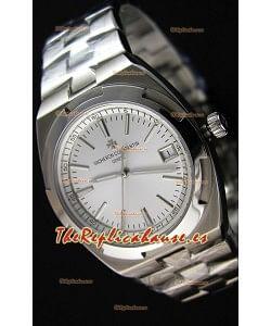 Vacheron Constantin Overseas Reloj Réplica Suizo a Espejo 1:1 con Dial en Acero color Blanco
