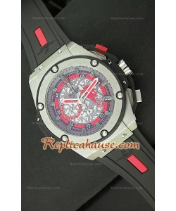 Hublot Big Bang Keng Power Manchester United Reloj Japonés en Acero