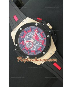 Hublot Big Bang Keng Power Manchester United Reloj Japonés en Oro Rosa
