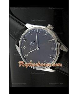 Reloj con Esfera de color Negro  IWC Wendeng Manual