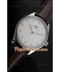 Reloj con Esfera Blanca  IWC Wendeng Manual