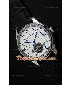 IWC Tourbilon Reproducción Japonesa del Reloj con Esfera Blanca