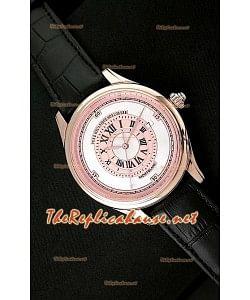 Mont Blanc Mechanique Horlogere Reloj Suizo en Oro Rosa Esfera Blanca