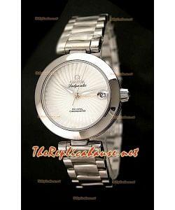 Omega Ladymatic Reproducción Reloj Suizo   - Reproducción Escala 1:1 con Esfera Blanca