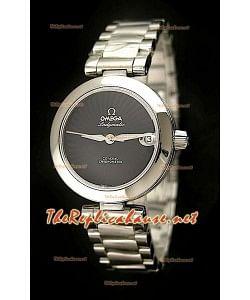 Omega Ladymatic Reproducción Reloj Suizo  - Reproducción Escala 1:1 con Esfera de color Negro