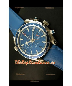 Omega Seamaster The Planet Ocean Réplica Japonesa en azul