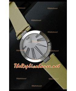 Piaget Altiplano Reloj de Cuarzo Suizo con Esferade Hora y Correa de Piel Amarilla