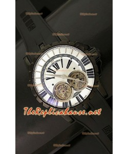 Roger Dubuis Excalibur Chronoexcel Dual Tourbilon en Carcasa de PVD