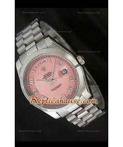 Rolex DayDate Reproducción Reloj Suizo con Esfera Champagne