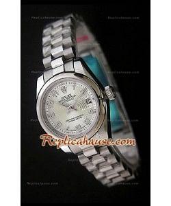 Rolex Datejust Réplica Reloj Suizo para Señoras con Números Árabes
