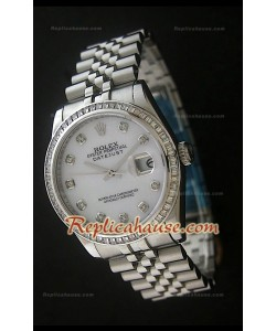 Rolex Datejust Reproducción Reloj Suizo con Esfera Blanca