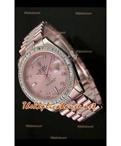 Rolex Daydate Reproducción Reloj Suizo - Reloj mediano de 37MM - Esfera Everose