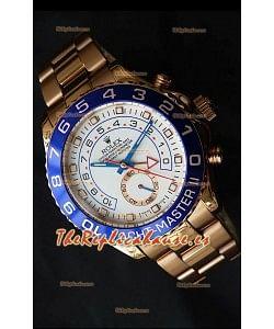Rolex Réplica Yatchmaster II Suizo de Oro Rosado – 1:1 Réplica Espejo