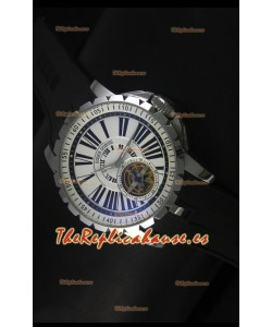 Roger Dubuis Excalibur Tourbillon Reloj con Movimiento Japonés - Dial Blanco