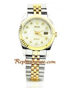 Rolex Réplica Datejust Dos Tonos Reloj para hombre