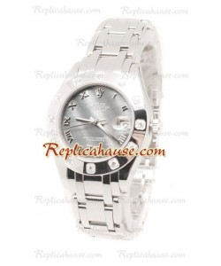 Pearlmaster Datejust Rolex Reloj Suizo en acero inoxidable y Dial color Perla - 34MM