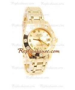 Datejust Rolex Reloj Suizo en Oro Amarillo y Dial dorado - 36MM
