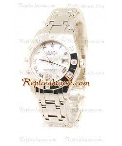 Pearlmaster Datejust Rolex Reloj Suizo en acero inoxidableDial Color Perlado - 34MM