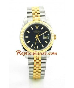 Rolex Réplica Datejust Reloj - Dos Tonos