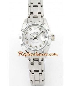 Rolex Réplica Datejust - Silver- Dama -