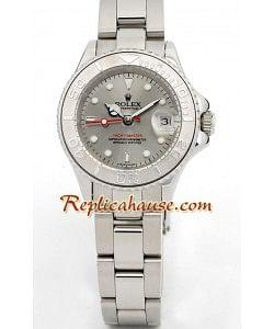 Rolex Réplica Yacht Master Silver - Dama -