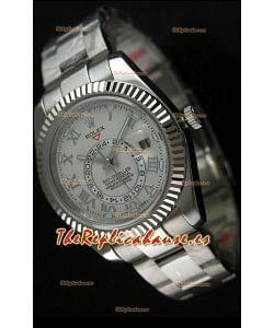 Rolex Sky-Dweller Reloj en Acero Inoxidable Dial Blanco