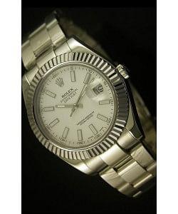 Rolex Datejust Reloj Suizo en Dial Blanco - 2836-2 ETA