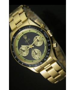 Rolex Daytona 6263 Cosmograph Dial Negro, Caja en Oro