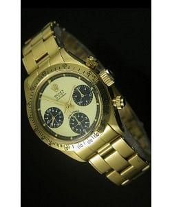 Rolex Daytona 6263 Cosmograph Dial Dorado en Oro, Caja en Oro