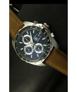 Tag Heuer Calibre 16 Reloj en Acero Inoxidable Dial Negro