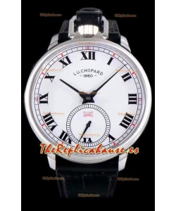 Chopard Louis-Ulysse The Tribute Reloj Suizo de Acero Inoxidable con Dial Blanco