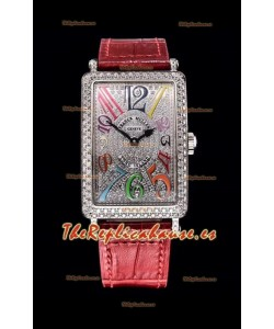 Franck Muller Largo Island Color Dreams Ladies Reloj Suizo en Correa Rosada